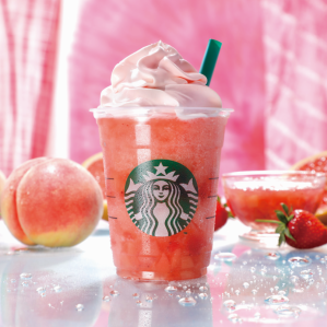 """""""Peach pink fruit Frappuccino ®"""""""