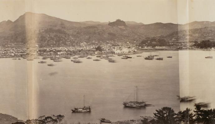 照片发源地的旧时风景长崎