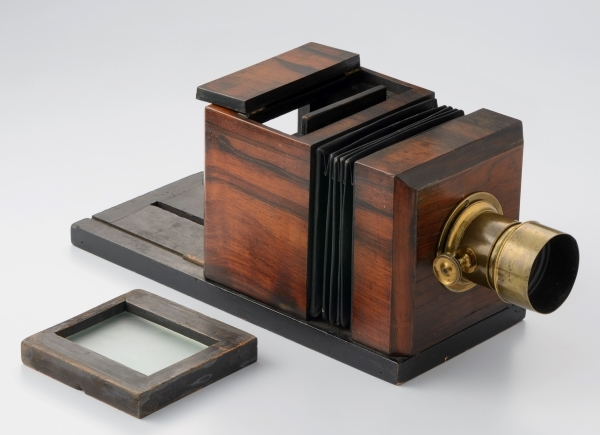 Camera American daguerreotype camera (Lewis type) early 1850s Tokyo Photographic Art Museum storehouse used for the world's first photograph technology