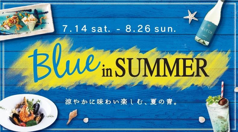 对Blue in SUMMER凉尝,享受的夏天的蓝
