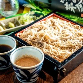 Edo-style soba and lava grill regional chicken truth ZEN